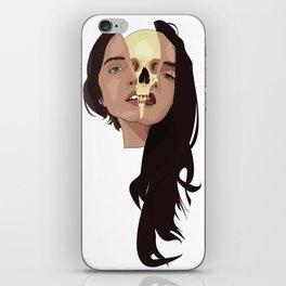 Two heads, one skull iPhone Skin