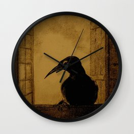 "Odilon Redon ""Le Corbeau (The Crow)"" Wall Clock"