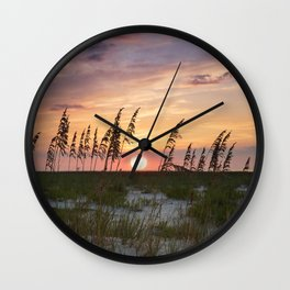 Dauphin Island Sunset Wall Clock