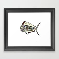 Mahi Mahi color Framed Art Print
