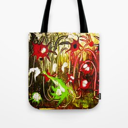 abstraction. fireworks Tote Bag