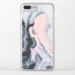 Modern marble 01 Clear iPhone Case
