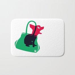 Angry animals: chihuahua - little green bag Bath Mat