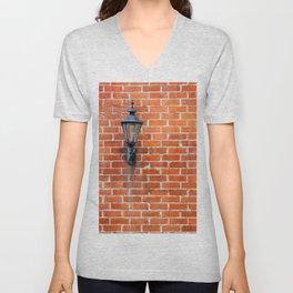 Brick Wall Light Unisex V-Neck