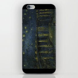 Starry Night Over the Rhone by Vincent van Gogh iPhone Skin