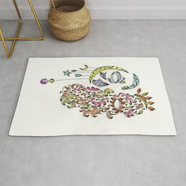 Day and Night concept artwork Rug
