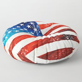 American Flag Art - Old Glory - By Sharon Cummings Floor Pillow