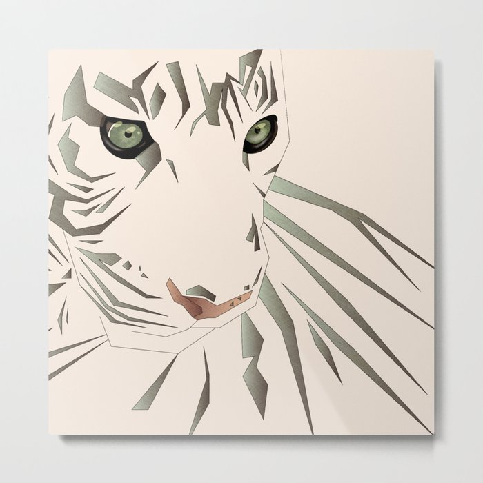 Tiger's Tranquility Metal Print