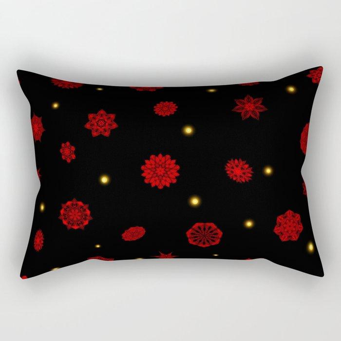 Fire in the Night Rectangular Pillow