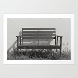 substitutes' bench  Art Print
