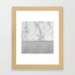 Marble + Glitter #1 Framed Art Print