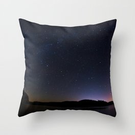 Stars Adorn Lake Throw Pillow