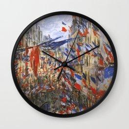 "Claude Monet ""The Rue Saint Denis, 30th of June 1878"" Wall Clock"