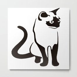 Siamese Cat Design Metal Print