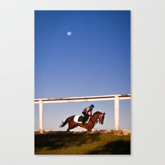 A rider and a horse Canvas Print