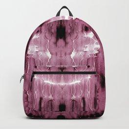 Mauve Moire' Shibori Backpack