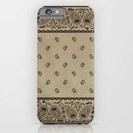 Brown Denim Bandana iPhone Case