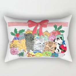 Christmas kittens Rectangular Pillow