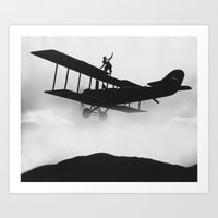 plane Art Prints featuring Plane by viko