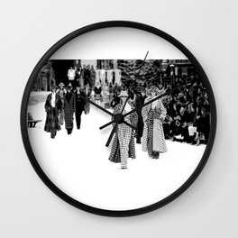 iconic karl looks black and white Wall Clock
