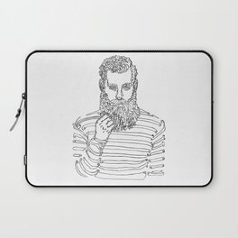 Beard Man with a Pipe Laptop Sleeve
