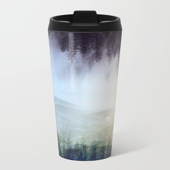 flipped forest Metal Travel Mug