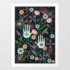 Botanical Hands Art Print