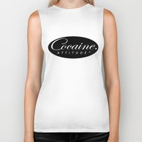 cocaine Biker Tanks featuring Cocaine Attitude by Trash Apparel