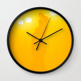 A muse through the fog Wall Clock