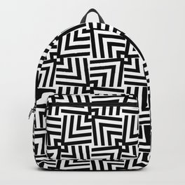 Black And White Op-Art Triangle Pattern Backpack