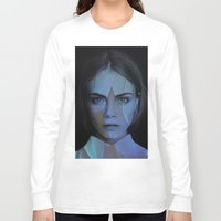 cara delevingne Long Sleeve T-shirts featuring Cara Delevingne  by TRUANGLES