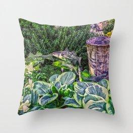 Greens and Yellows Garden Throw Pillow