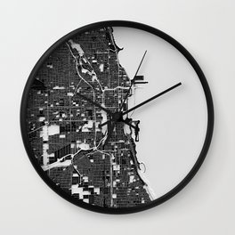 Chicago – Abstract Map Wall Clock