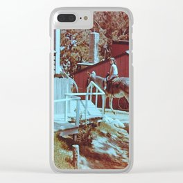 Donkey Ride Clear iPhone Case