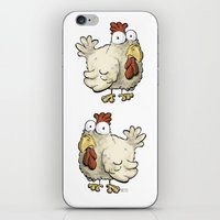 chicken iPhone & iPod Skins featuring Chicken by Ky Betts