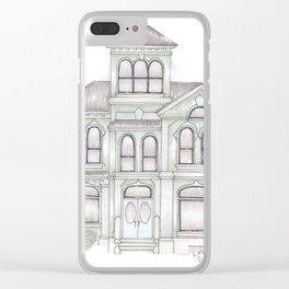 Green Italianate Victorian Clear iPhone Case