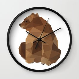 Brown Bear. Wall Clock