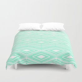 Hipster Mint Green Arrows Aztec Tribal Pattern Duvet Cover