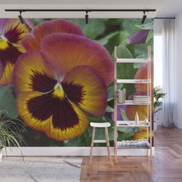 Pansy Painted Wall Mural