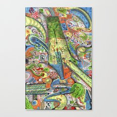Madness Doodle Canvas Print