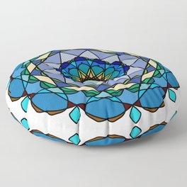Vivid colored mandala Floor Pillow