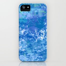 Blue Abstract, Ocean, Sky iPhone Case