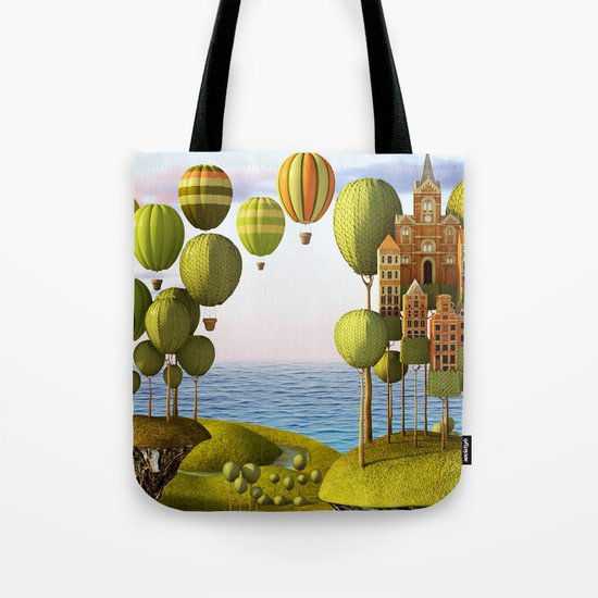 City in the Sky_Lanscape Format Tote Bag