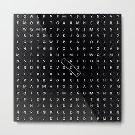 JOY CROSSWORD Metal Print