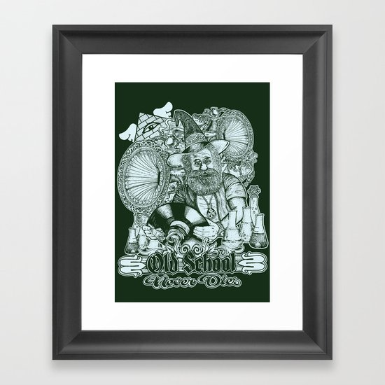 Old School Never Dies Framed Art Print