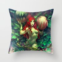 poison ivy Throw Pillows featuring Poison Ivy by Hai-ning