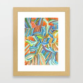 Bent and Straight Ladders Pattern Framed Art Print