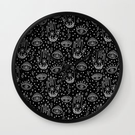 Esoteric Hands and Mystical Eyes Wall Clock