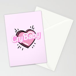 cry baby heart Stationery Cards