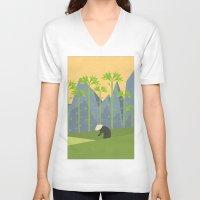 vietnam V-neck T-shirts featuring Vietnam by Imagonarium